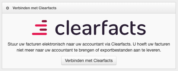 Screenshot: MyFact verbinden met Clearfacts